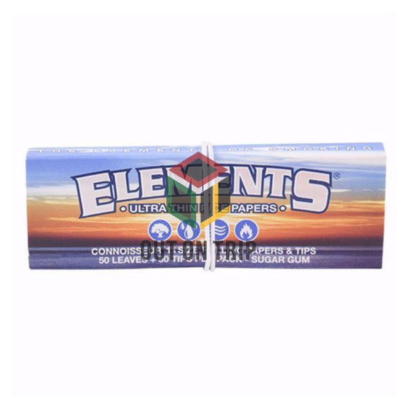 ELEMENTS Connoisseur - 1 1/4 Size Rolling Papers with Tips