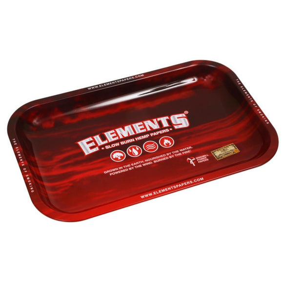 Elements Red Metal Rolling Tray - Small