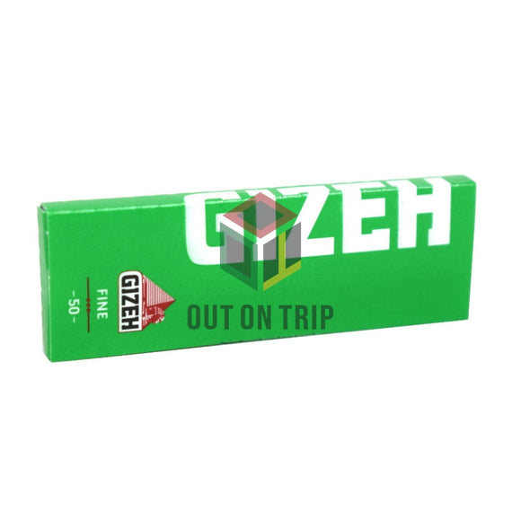 GIZEH Fine Green Rolling Paper Regular Size - 50 Leaves