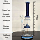 12 Inch Can Bong with Mountain Percolator