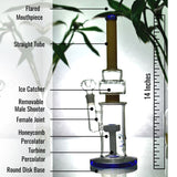 14 Inch Slit Disc Percolator Bong
