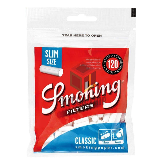 SMOKING Slim Size Cotton Filter - 120 Tips