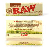 RAW Organic Rolling Paper 1 1/4 Size - 50 Leaves