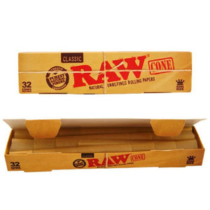 RAW Classic Prerolled Cones King Size -  32 Cones