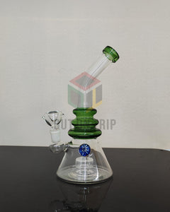 10 Inch Bent Neck Bong with Slit Disc Percolator