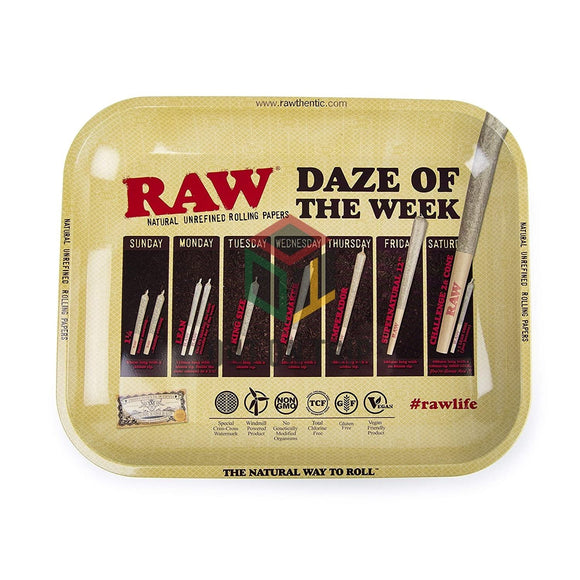RAW Daze of the Week Rolling Tray - Large