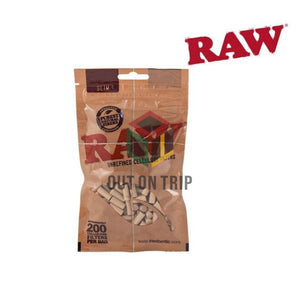 RAW Cellulose Filter Tips Pack - 200 Filter Tips
