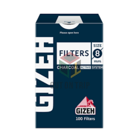 Gizeh Active Charcoal Filter - 100 Tips