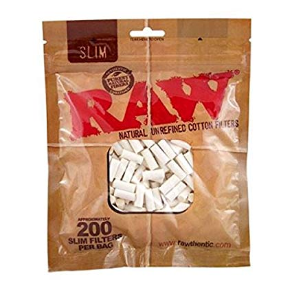 OutonTrip Original RAW SLIM Cotton Filters/Cigarette Filters, 200pcs per pack