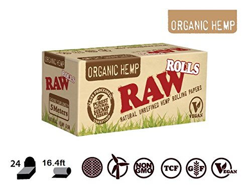 RAW ORGANIC ROLL 5meter ROLLING PAPER ROLL - Outontrip