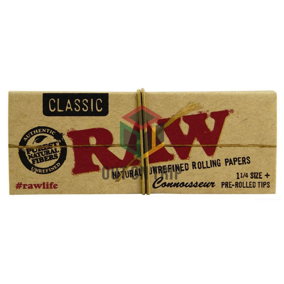 RAW Classic Connoisseur - 1 1/4 Rolling Papers with Pre-Rolled Tips