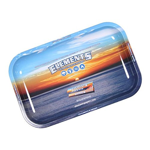 ELEMENTS SMALL METAL ROLLING TRAY - Outontrip