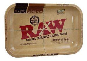 RAW METAL ROLLING TRAY SMALL - Outontrip