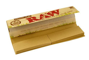 RAW ORGANIC CONNOISSEUR King 32 leaves Rolling Papers with Tips - Outontrip