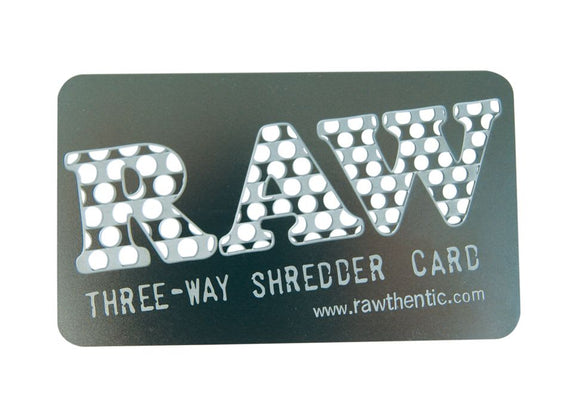 RAW SHREDDER CARD - Outontrip