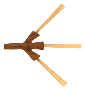 RAW TRIDENT WOODEN CIG HOLDER (HOLDS 3 JOINTS) - Outontrip