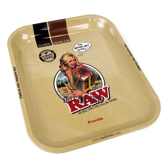 RAW Girl Metal Rolling Tray - Large