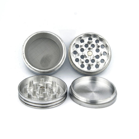 Classic Metallic Herb crusher/Grinder Medium with filter (42 mm)