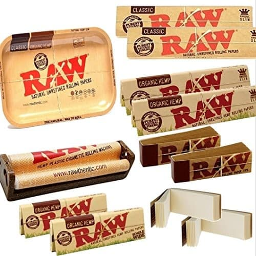 OutonTrip Bundle - 13 Items - RAW Rolling Paper (Roll Your Own) Cigarette Kit - Outontrip