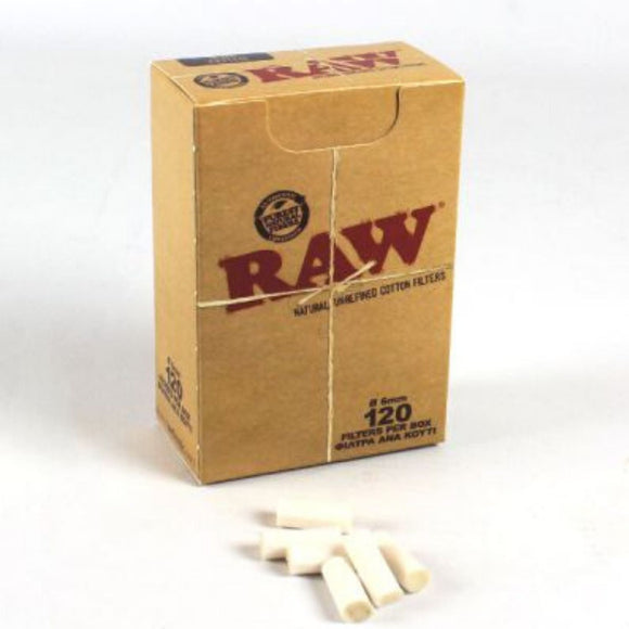 RAW Cotton Filter Tips Box - 120 Filter Tips
