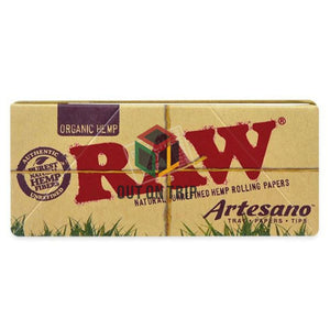 Raw Organic Artesano - Rolling Paper with Tray and Tips
