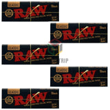 RAW Black Rolling Paper 1 1/4 - 50 Leaves