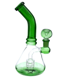 OutonTrip 8 Inch Themed Glass Bong With Barrel Percolator