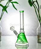 10 Inch Coloured Scientific Beaker Bong with Ice Catcher