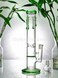 14 Inch Straight Tube Bong with Ice Catcher & Honeycomb Percolator