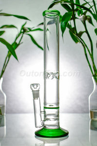 16 Inch Straight Tube Ice Catcher Bong with Honeycomb and Turbine Percolator