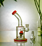 8 Inch Bent Neck Can Bong with Pokemon Percolator