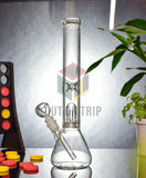 12 Inch Glass Bong with Ice Catcher & Inset Percolator