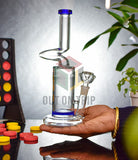 10 Inch Assorted Color Bong with Honeycomb Percolator