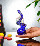 6.5 In Bent Neck Solid Colour Bubbler