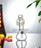 6 Inch Conical Transparent Glass Bong