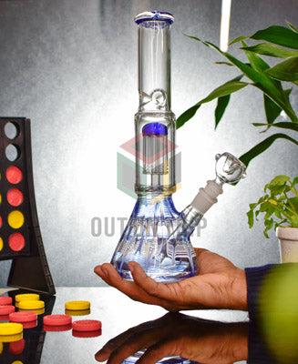 12 Inch Spiral Design Bong with Tree Percolator