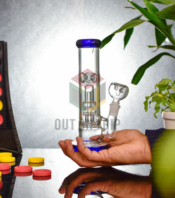 8 Inch Straight Tube Bong with UFO Percolator (Discontinued)