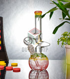 8 Inch Tri-Color Glass Bong