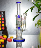 12 Inch Can Bong with Assorted Double UFO Percolator