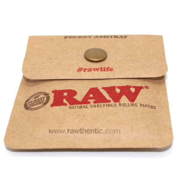 RAW Pocket Ashtray Tobacco Pouch Snap button close