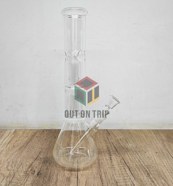 12 Inch Straight Tube Conical Bong with Double UFO Percolator