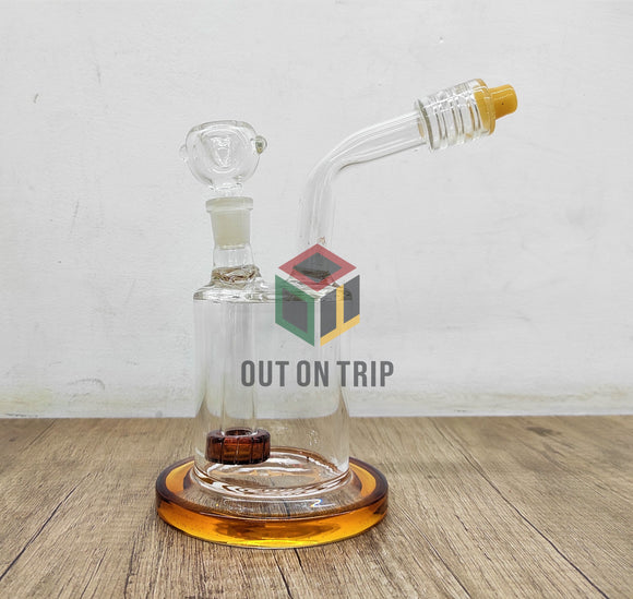 8 Inch Can Bong with Bent Neck and Slit Percolator (Discontinued)