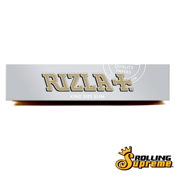 Rizla Silver King Size Slim 32 Leaves Rolling/Smoking Paper