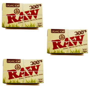 Raw organic 1 1/4 size 300 leaves rolling paper