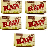 RAW Organic Rolling Paper 1 1/4 Size - 300 Leaves