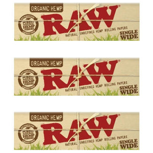 Raw Organic Single wide rolling paper