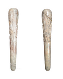 Handmade 8 Inch Assorted Design  Marble chillum