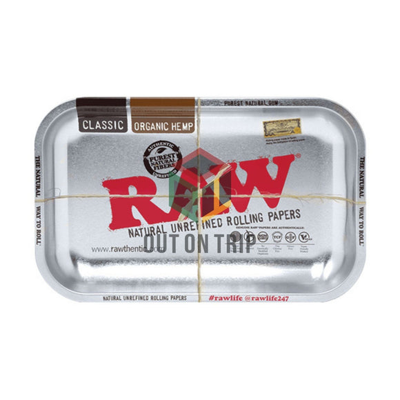 RAW Silver Rolling Tray - Small