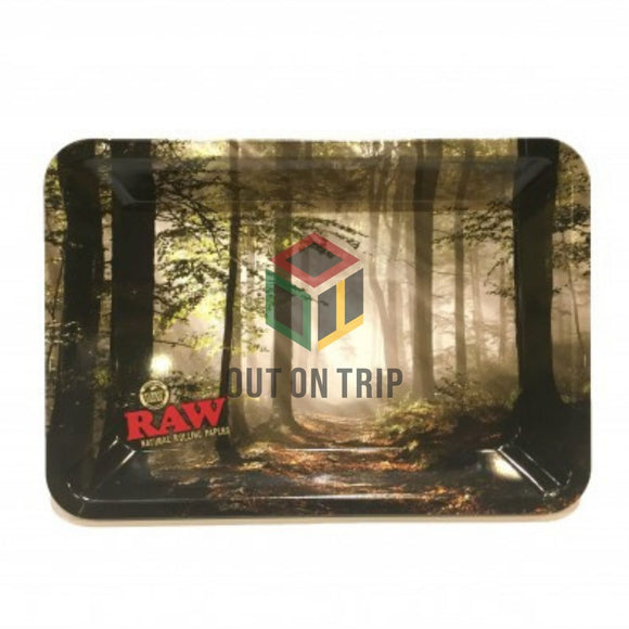 RAW Smoky Forest Rolling Tray - Mini
