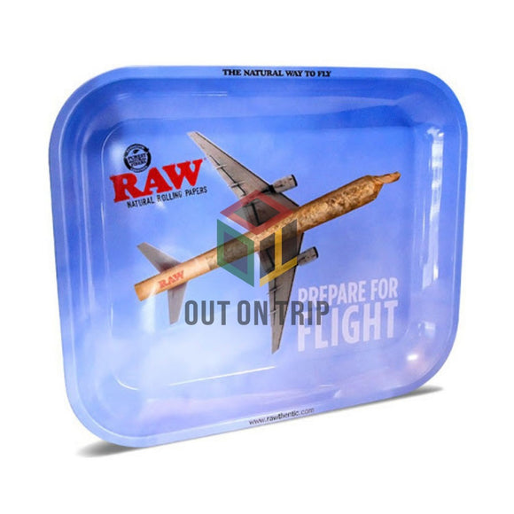 RAW Flight Metal Rolling Tray - Large